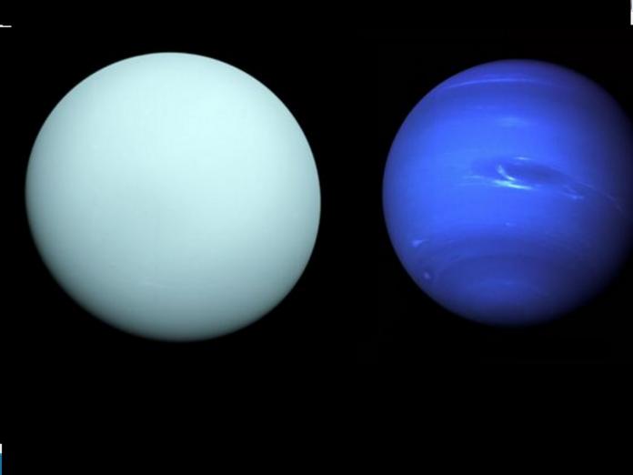 Uranus in relatie cu Neptun