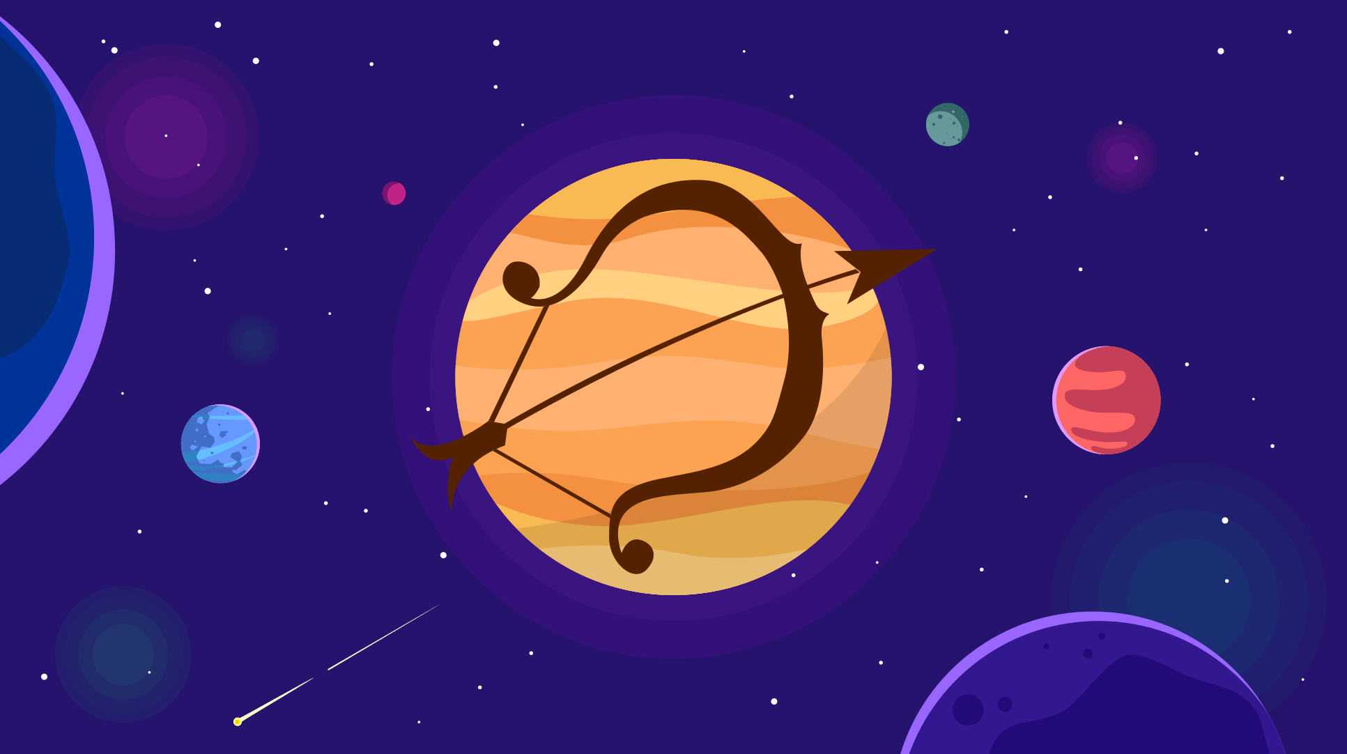 Jupiter in zodia Sagetator