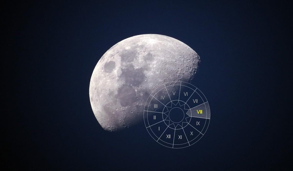 Luna in Casa a VIII-a