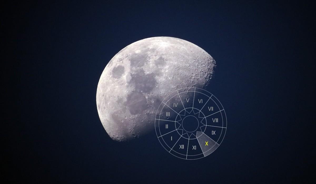Luna in Casa a X-a