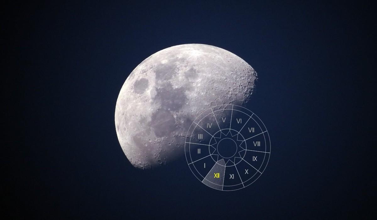 Luna in Casa a XII-a