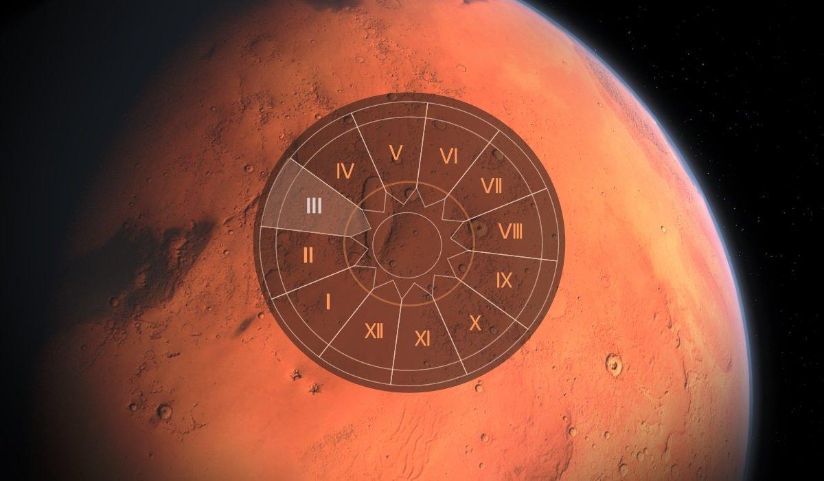 Marte in casa a III-a