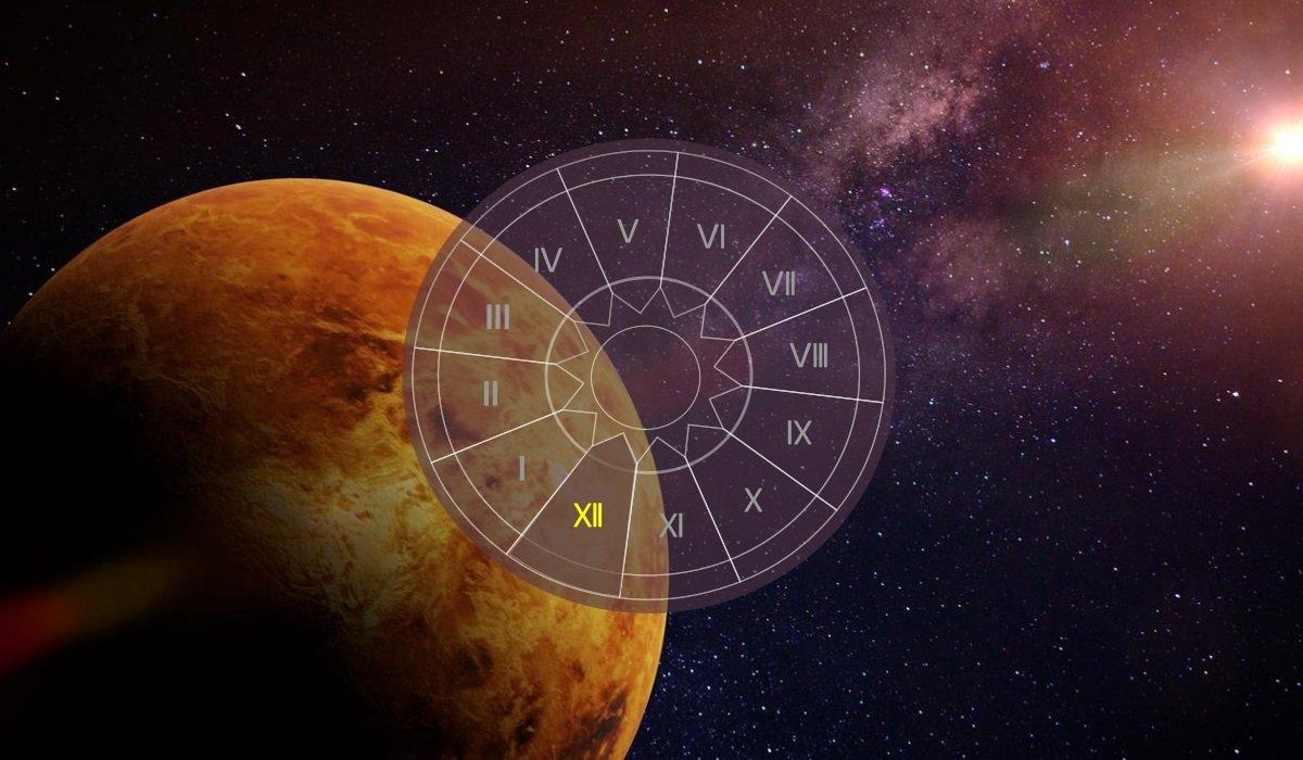 Venus in casa a XII-a