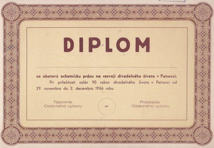 Interpretare vis in care apare diploma