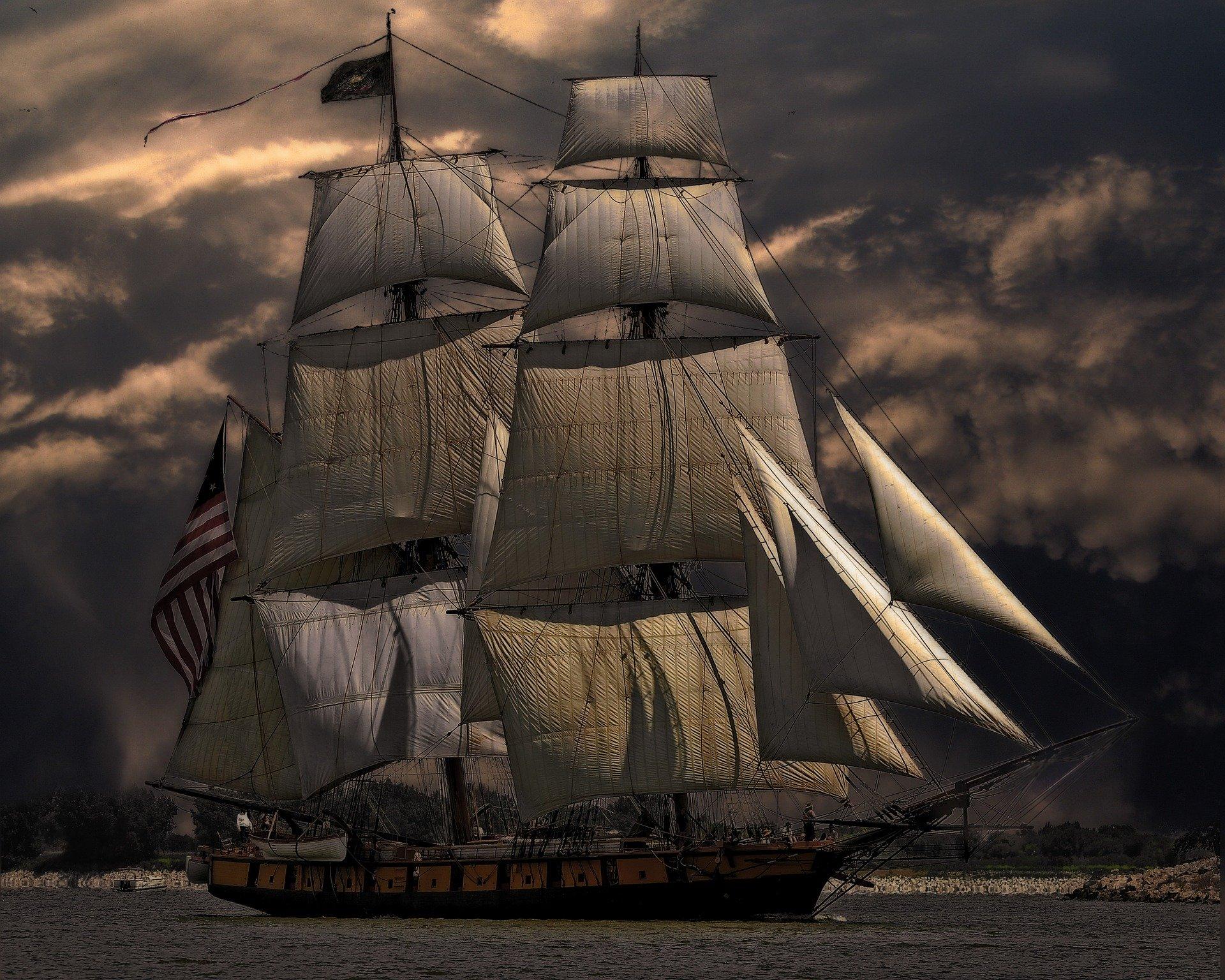 barca cu panze