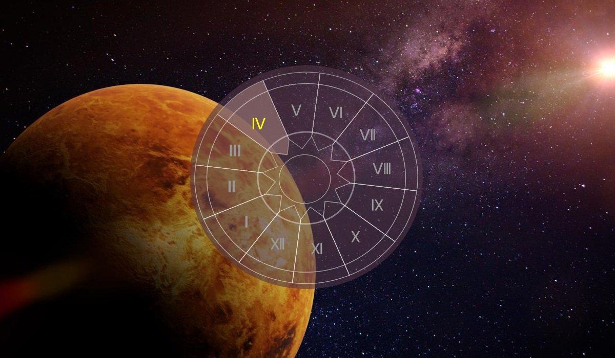 Venus in casa a IV-a