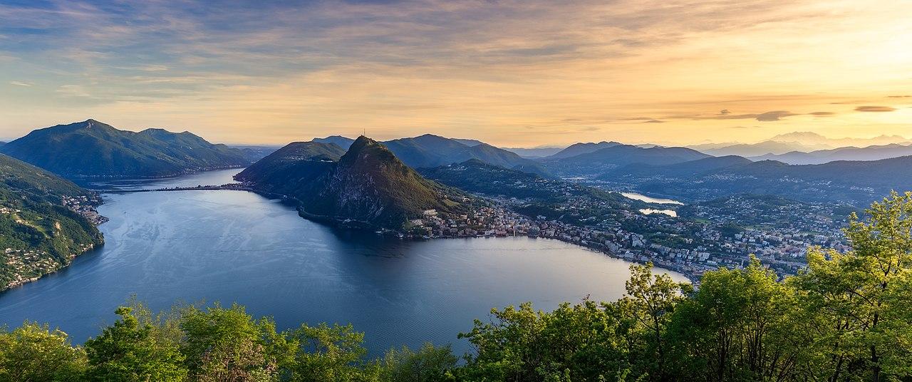 Lacul Lugano panorama